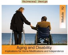 An elderly couple, holding hands in front of a large body of water.  She is standing with a walker, he is seated in a wheelchair.  The course title is overlaid.